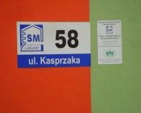 Tablica z nazwą ulicy 58 i Unijna